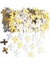 Confettis croix argent et or - Decoration / Animation - Kideguise