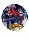 8 Petites assiettes en carton Spiderman 20 cm
